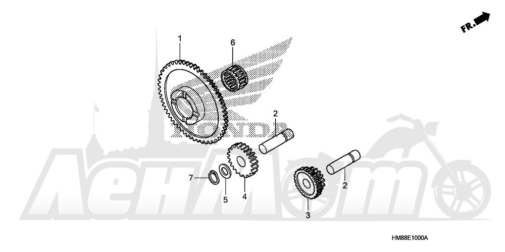 Запчасти для Квадроцикла Honda 2007 TRX250TE Раздел: STARTER GEAR | стартер шестерня
