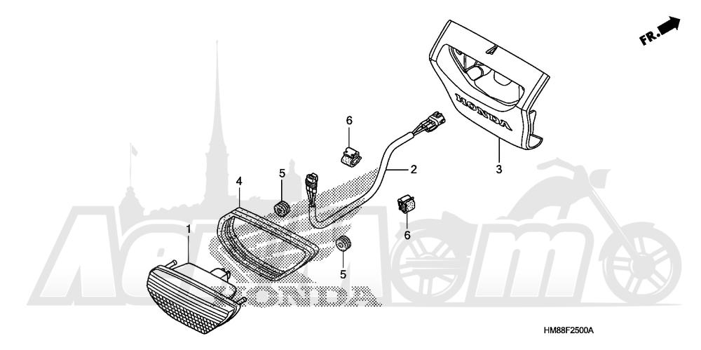 Запчасти для Квадроцикла Honda 2007 TRX250TE Раздел: TAILLIGHT | задний фонарь