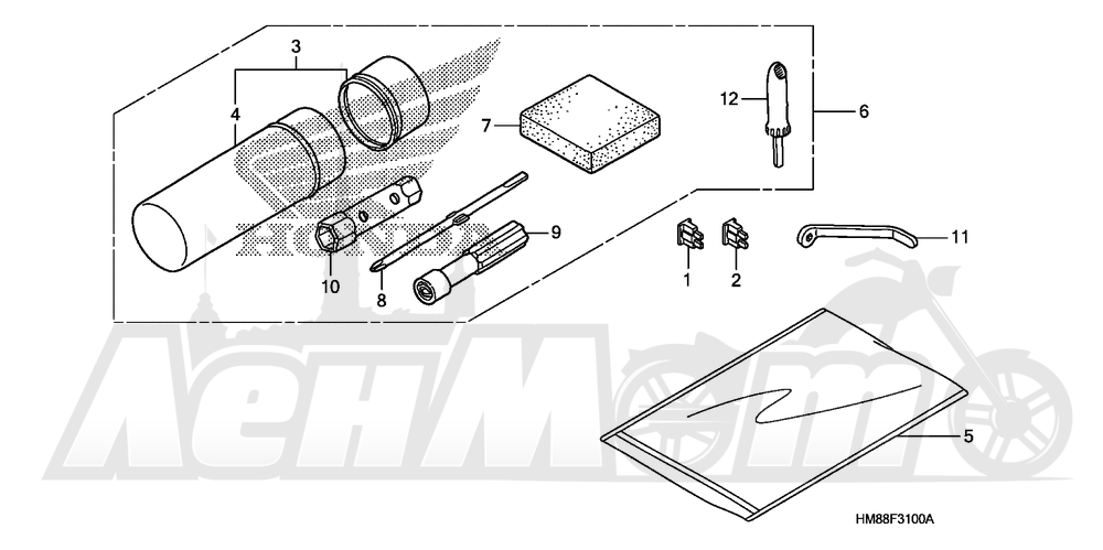 Запчасти для Квадроцикла Honda 2007 TRX250TE Раздел: TOOLS   интструменты