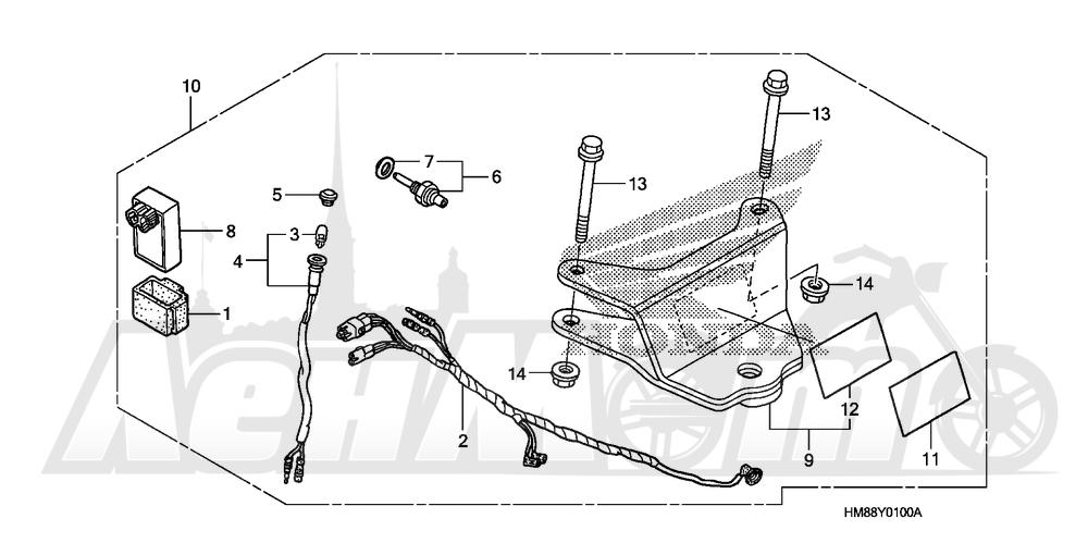 Запчасти для Квадроцикла Honda 2007 TRX250TE Раздел: TRAILER HITCH SET | прицеп прицепное устройство, петля набор
