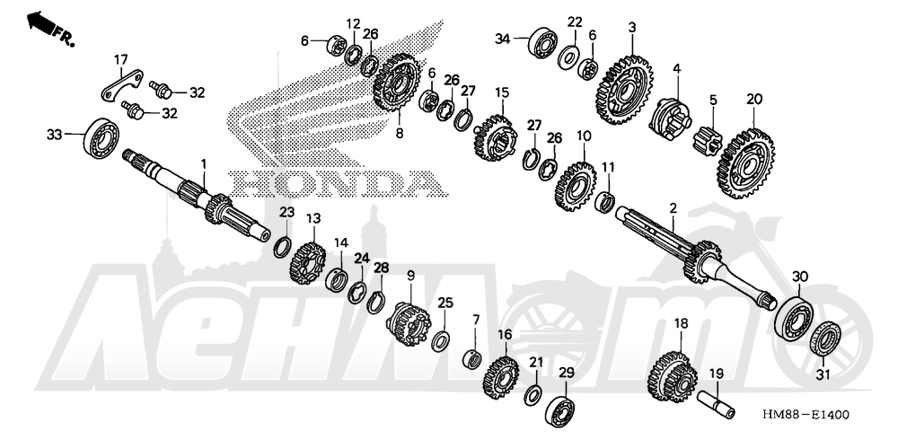 Запчасти для Квадроцикла Honda 2007 TRX250TE Раздел: TRANSMISSION | трансмиссия