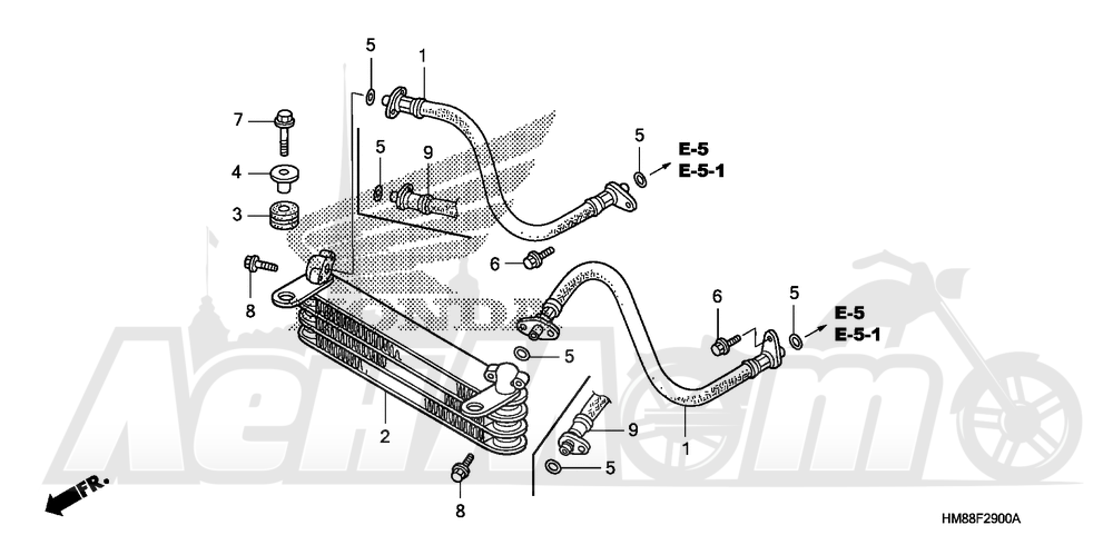 Запчасти для Квадроцикла Honda 2007 TRX250TM Раздел: OIL COOLER   маслянный радиатор