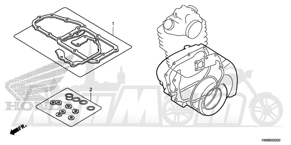 Запчасти для Квадроцикла Honda 2007 TRX250TM Раздел: GASKET KIT B | комплект прокладок B