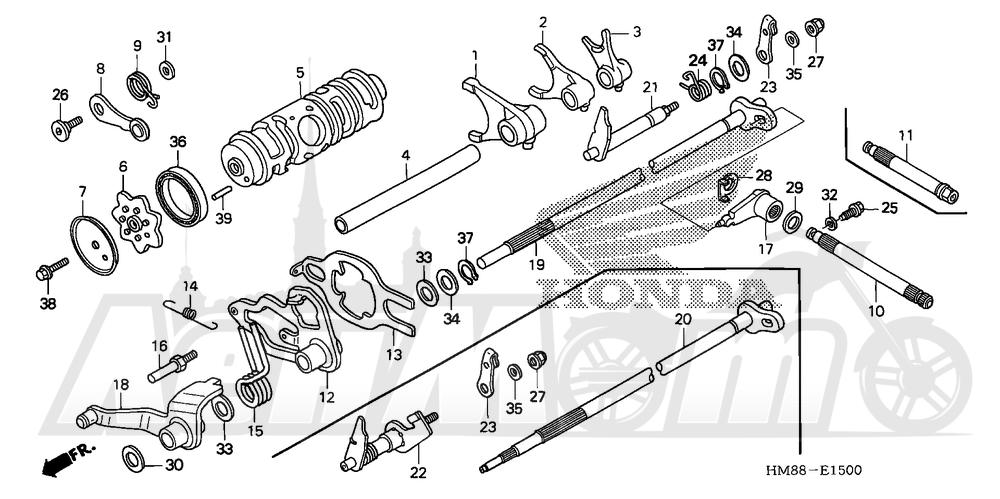 Запчасти для Квадроцикла Honda 2007 TRX250TM Раздел: GEARSHIFT DRUM   переключение передач барабан