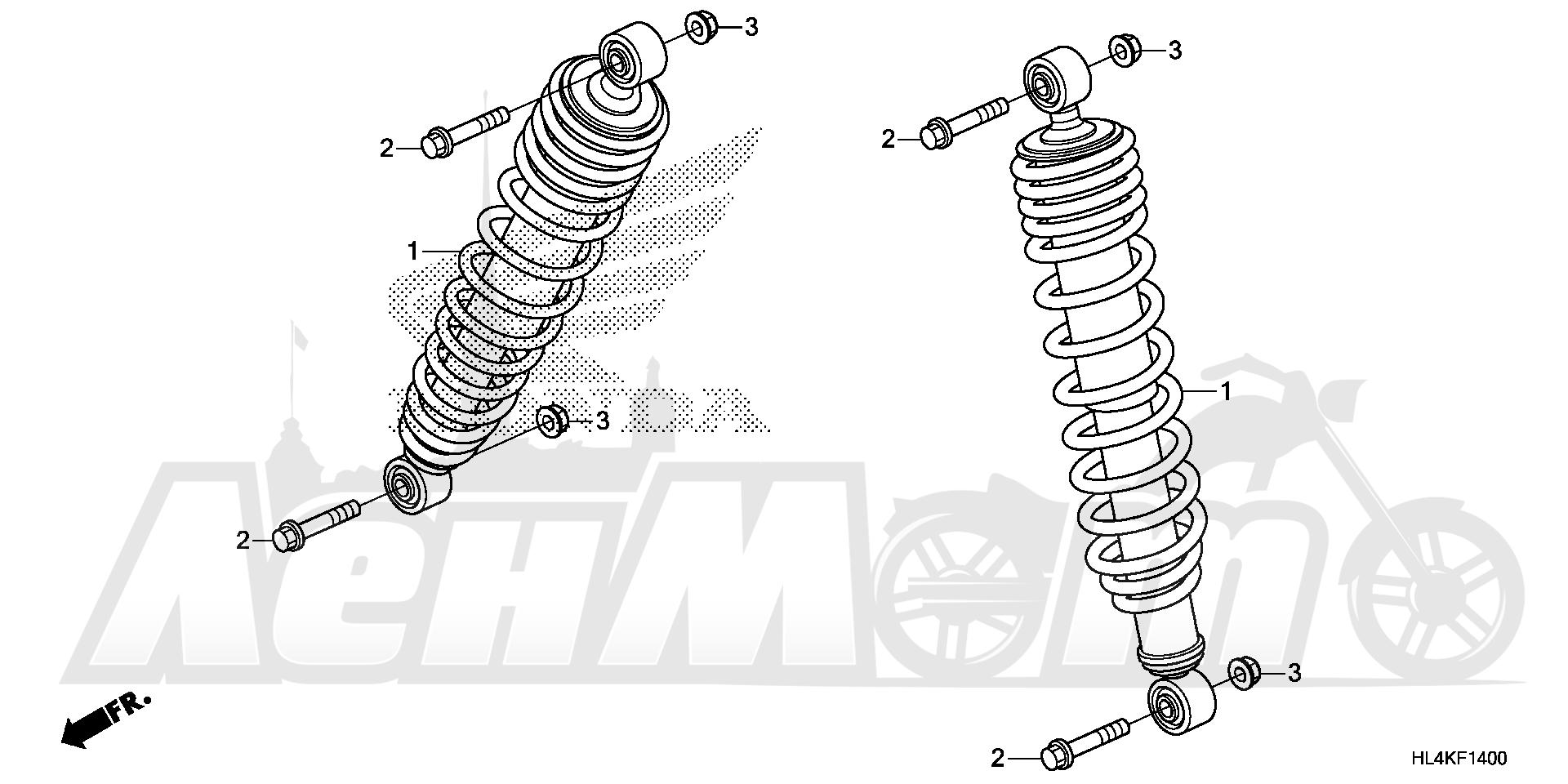 Запчасти для Квадроцикла Honda 2019 SXS1000M3L Раздел: FRONT CUSHION (1) | перед подкладка (1)