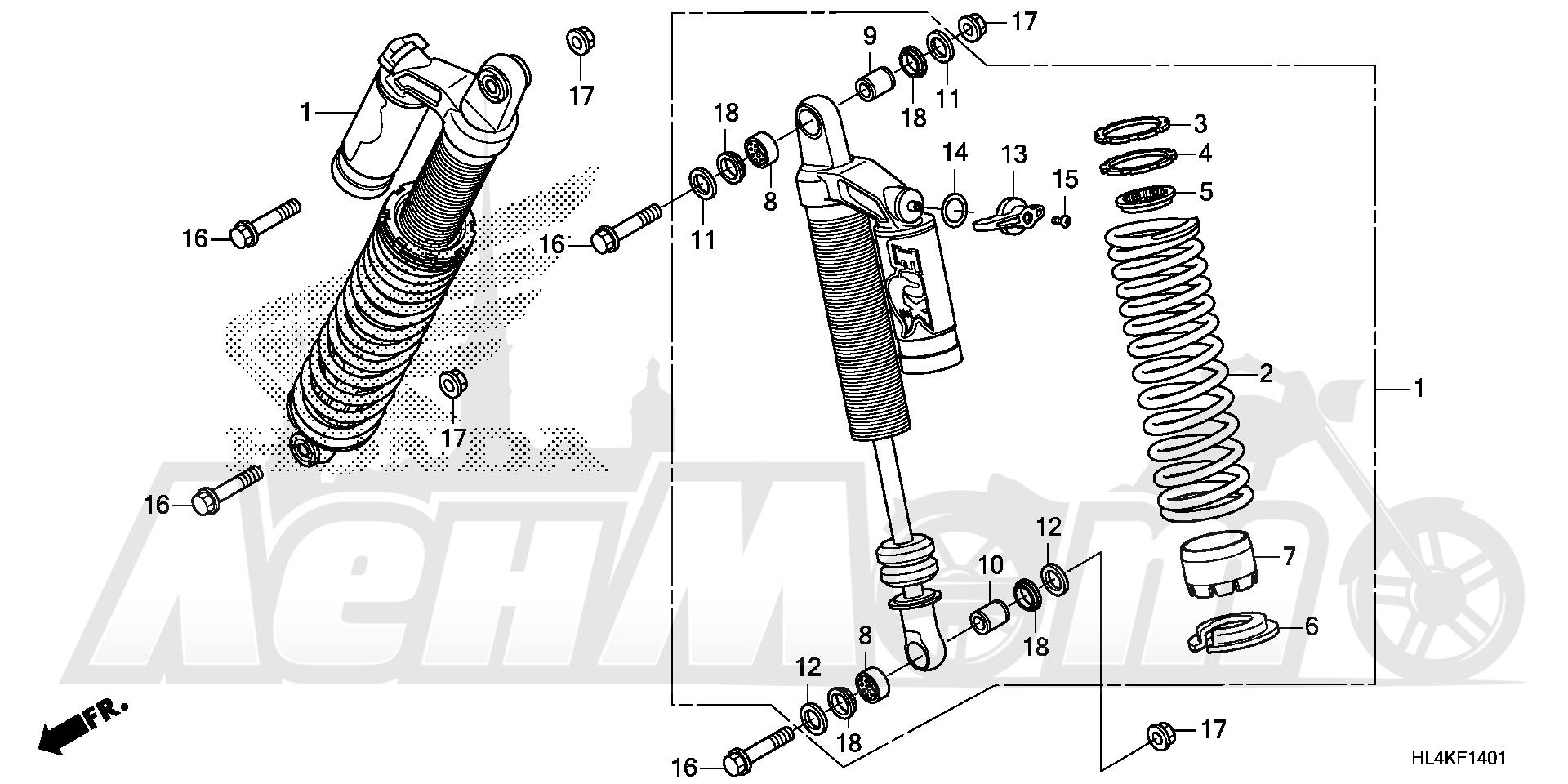Запчасти для Квадроцикла Honda 2019 SXS1000M3L Раздел: FRONT CUSHION (2) | перед подкладка (2)