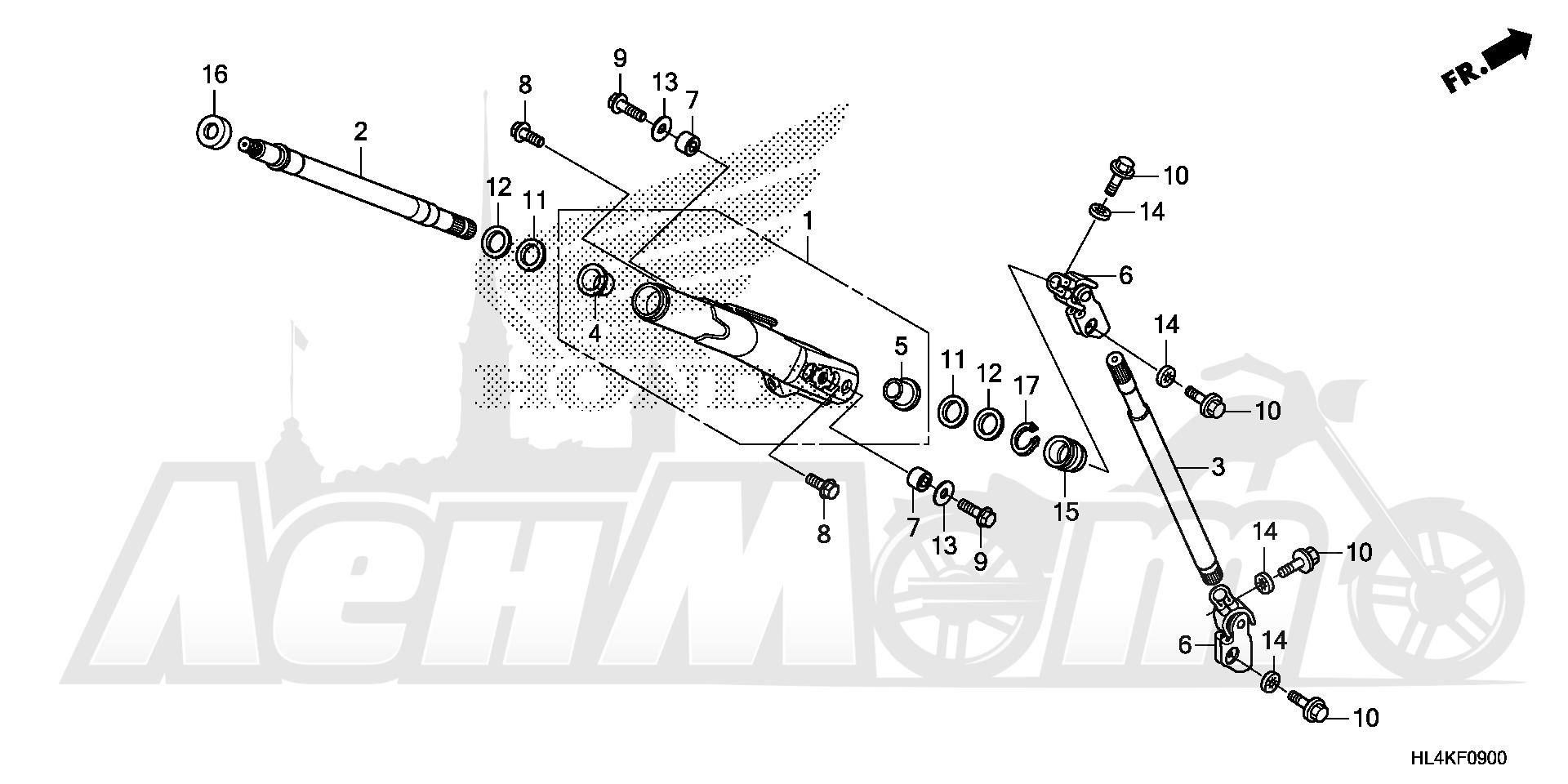Запчасти для Квадроцикла Honda 2019 SXS1000M3L Раздел: STEERING SHAFT | рулевой вал