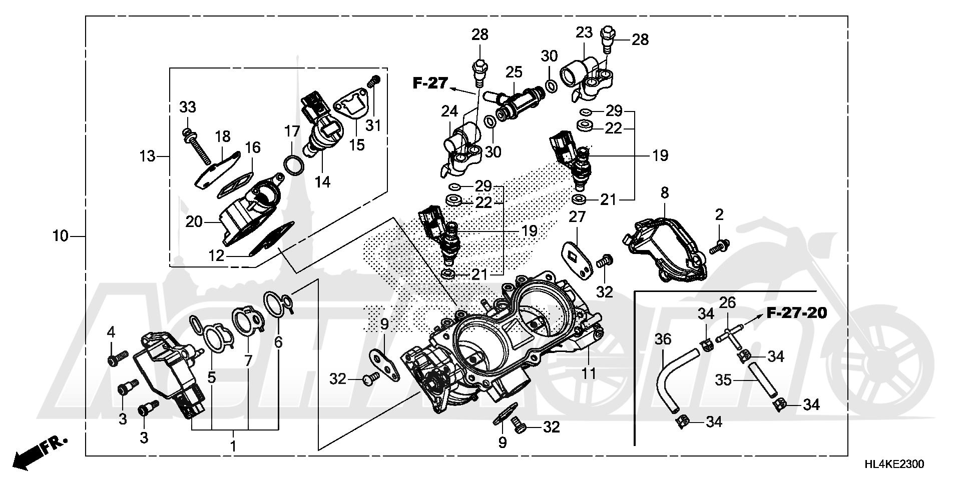 Запчасти для Квадроцикла Honda 2019 SXS1000M3L Раздел: THROTTLE BODY   дроссельный узел