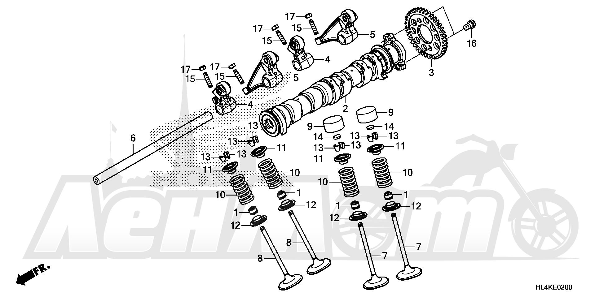 Запчасти для Квадроцикла Honda 2019 SXS1000M3P Раздел: CAMSHAFT AND VALVE | распредвал и клапан