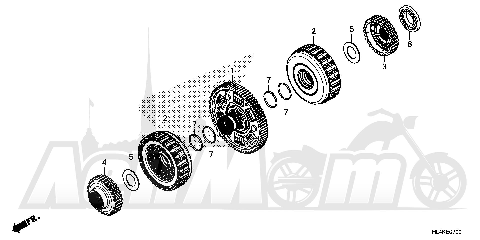 Запчасти для Квадроцикла Honda 2019 SXS1000M3P Раздел: CLUTCH | сцепление
