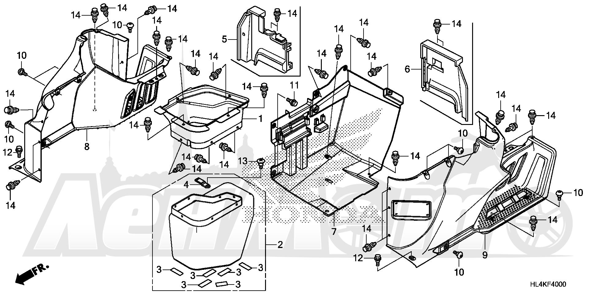 Запчасти для Квадроцикла Honda 2019 SXS1000M3P Раздел: SIDE COVER   боковая сторона крышка