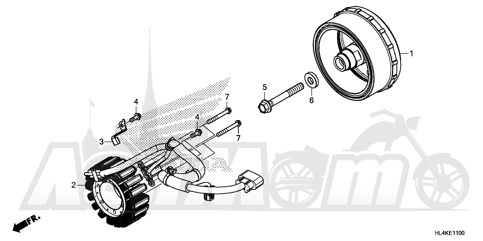Запчасти для Квадроцикла Honda 2019 SXS1000M5D Раздел: ALTERNATOR | генератор