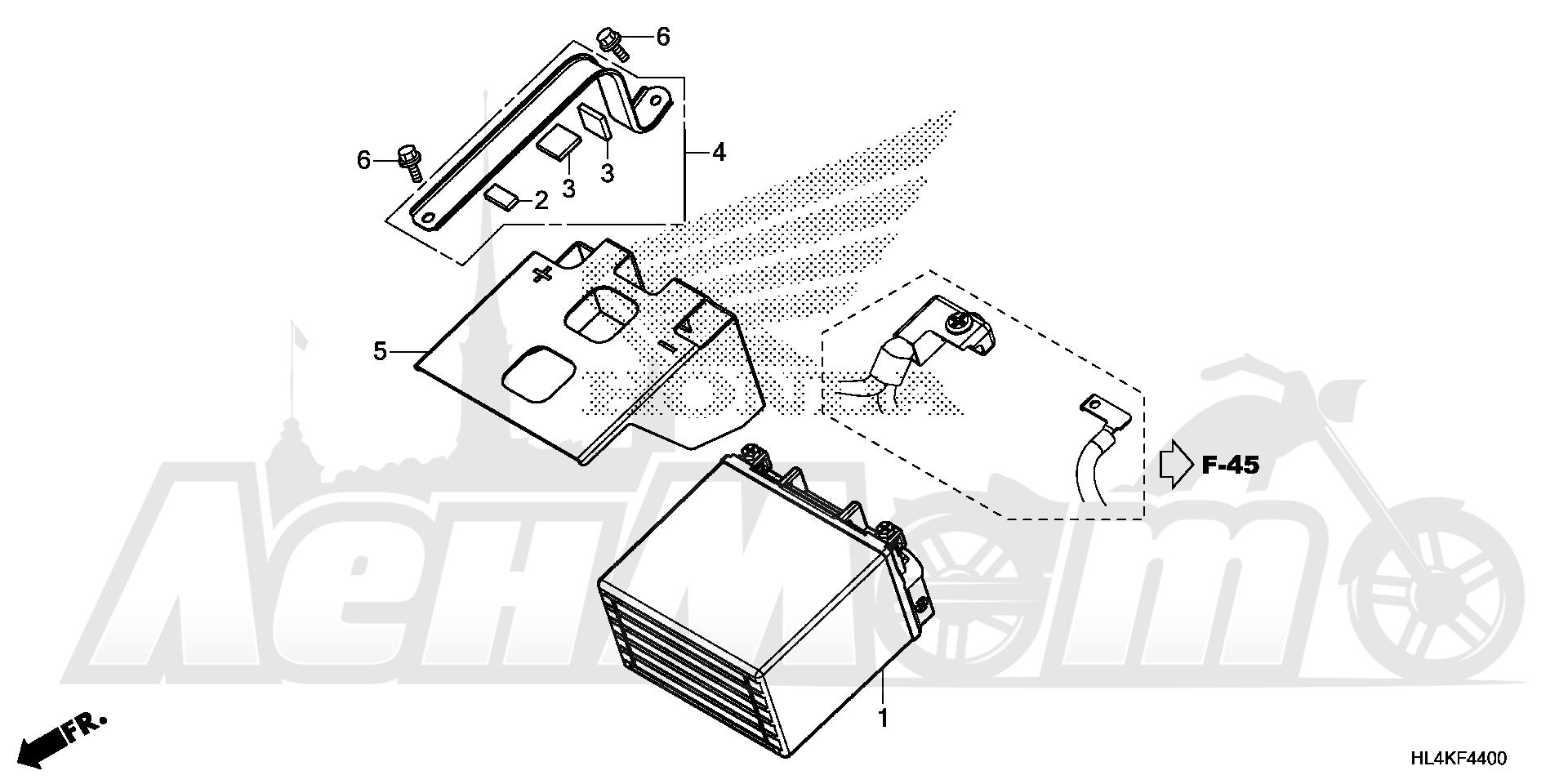 Запчасти для Квадроцикла Honda 2019 SXS1000M5D Раздел: BATTERY   аккумулятор