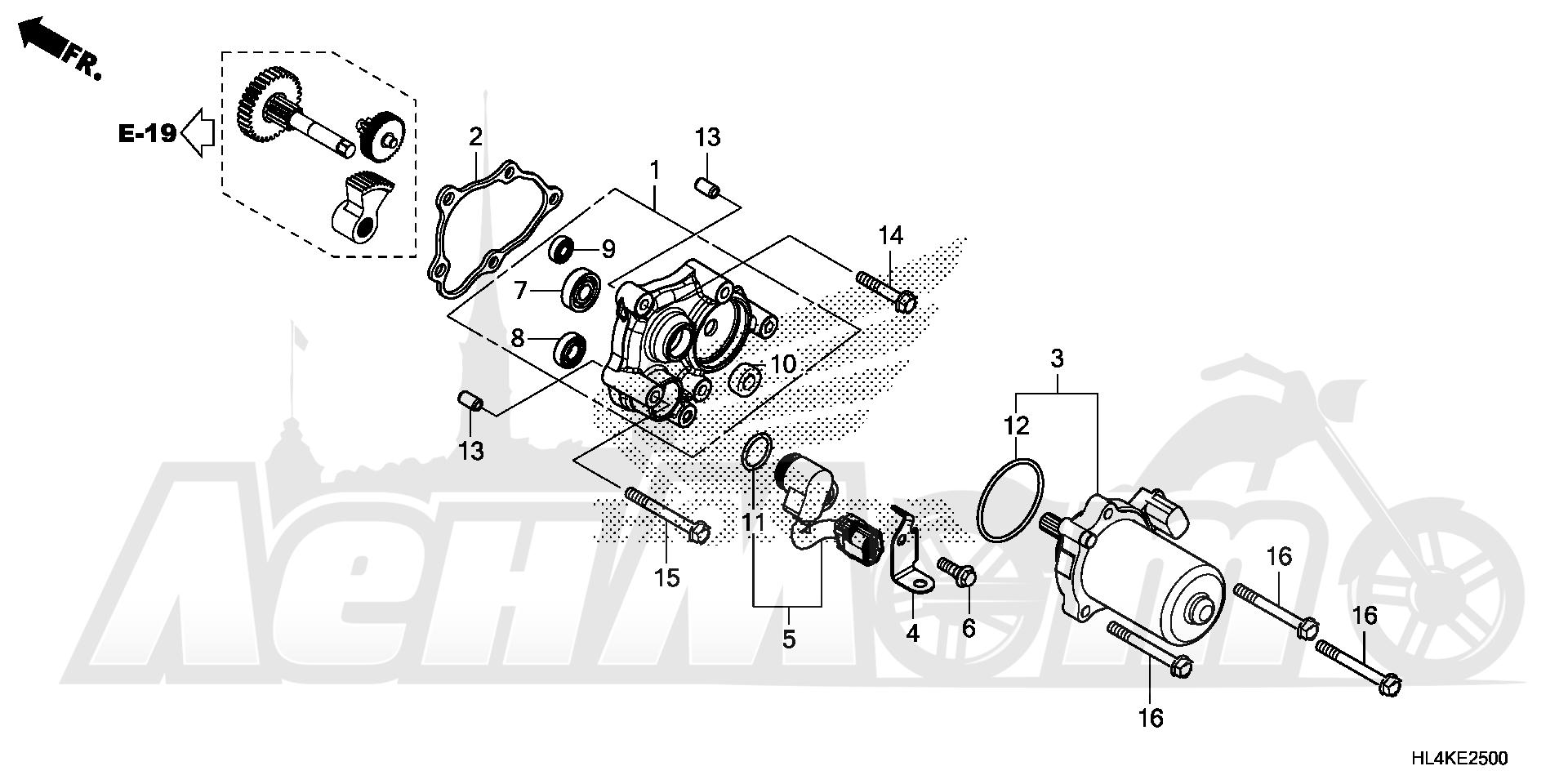 Запчасти для Квадроцикла Honda 2019 SXS1000M5D Раздел: CONTROL MOTOR | управление мотор