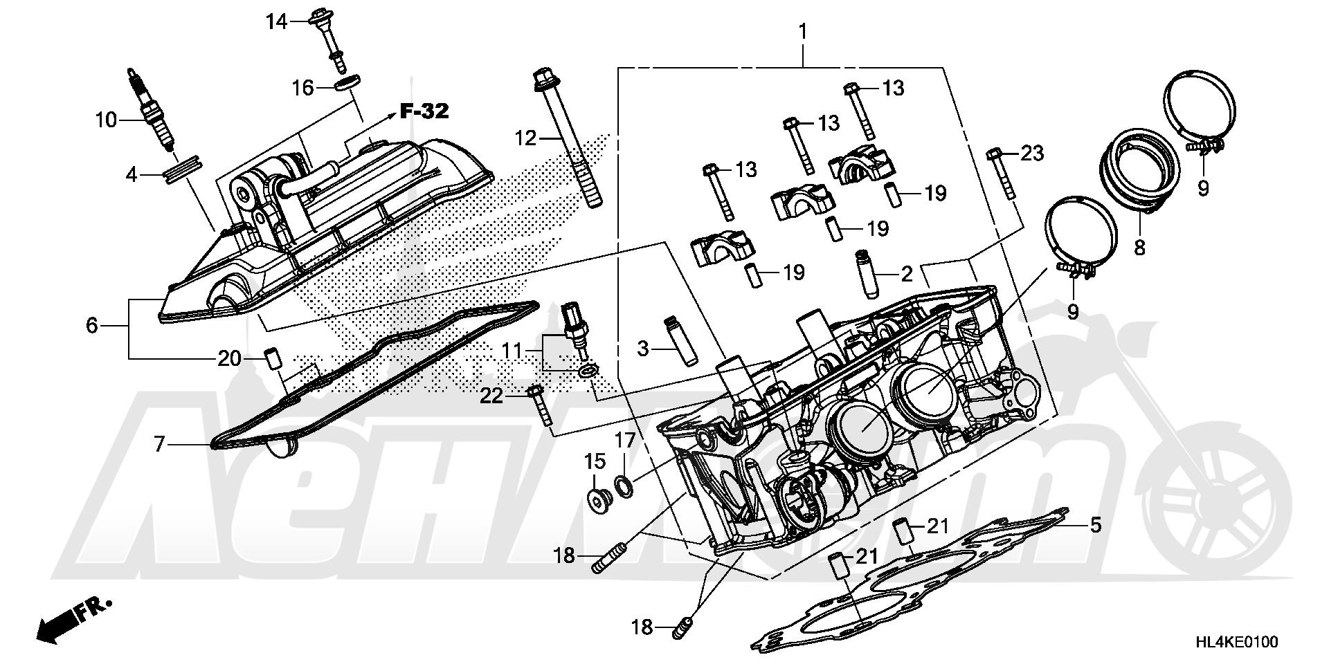 Запчасти для Квадроцикла Honda 2019 SXS1000M5D Раздел: CYLINDER HEAD | головка цилиндра