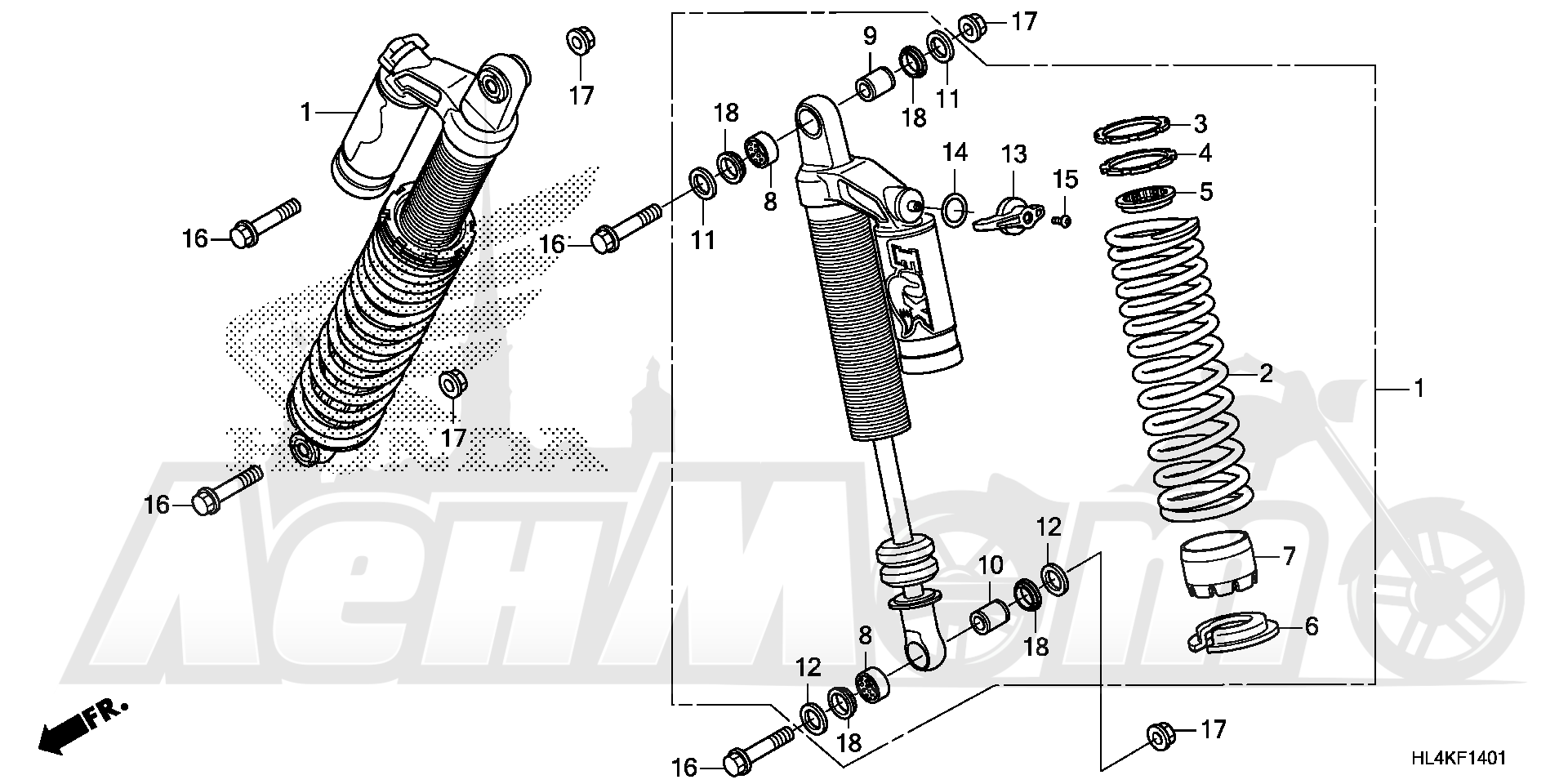 Запчасти для Квадроцикла Honda 2019 SXS1000M5D Раздел: FRONT CUSHION (2)   перед подкладка (2)