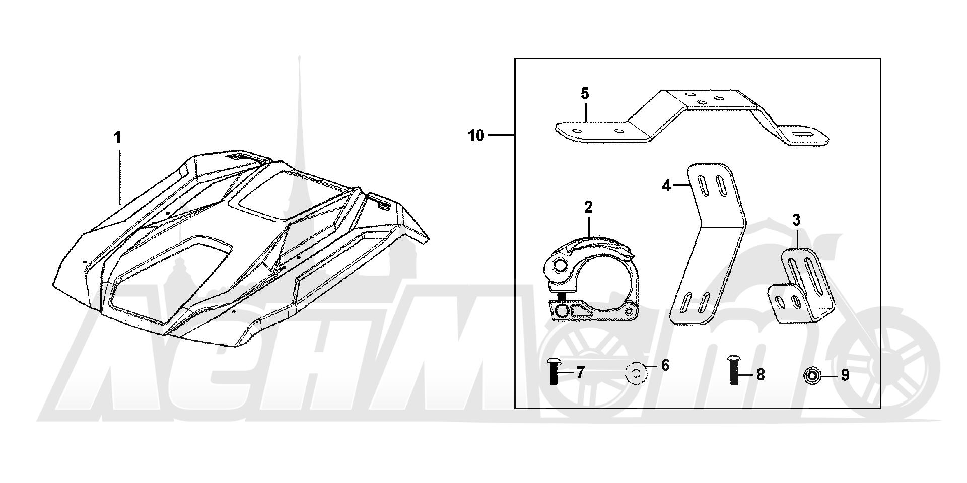 Запчасти для Квадроцикла Honda 2019 SXS1000M5D Раздел: HARD ROOF (5P) | HARD крыша (5P)
