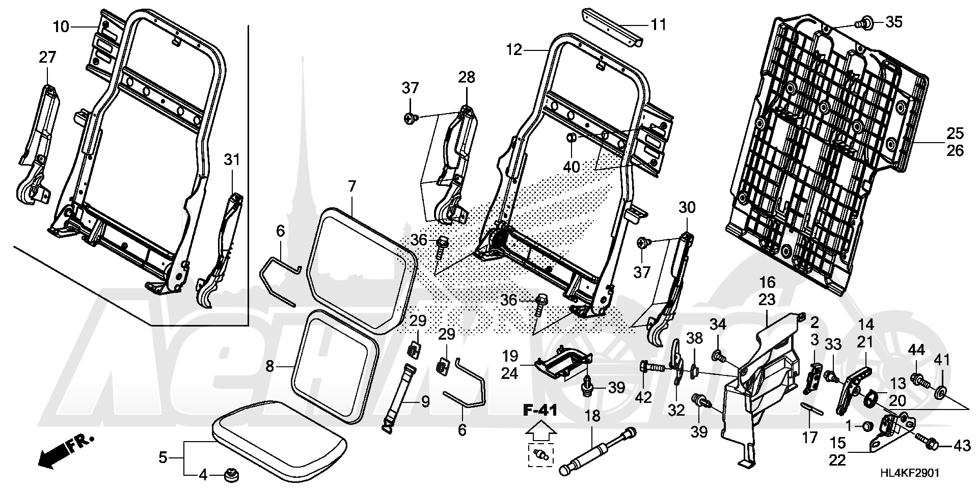 Запчасти для Квадроцикла Honda 2019 SXS1000M5D Раздел: REAR SEAT | зад сиденье