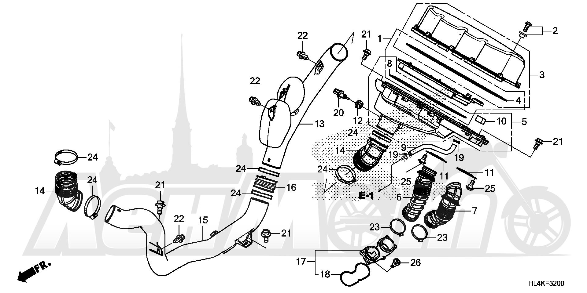 Запчасти для Квадроцикла Honda 2019 SXS1000M5L Раздел: AIR CLEANER | очиститель воздуха
