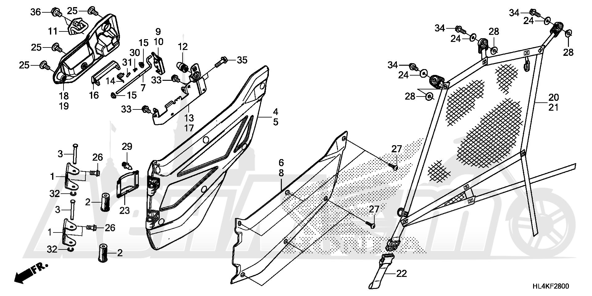 Запчасти для Квадроцикла Honda 2019 SXS1000M5L Раздел: FRONT DOOR | перед дверь