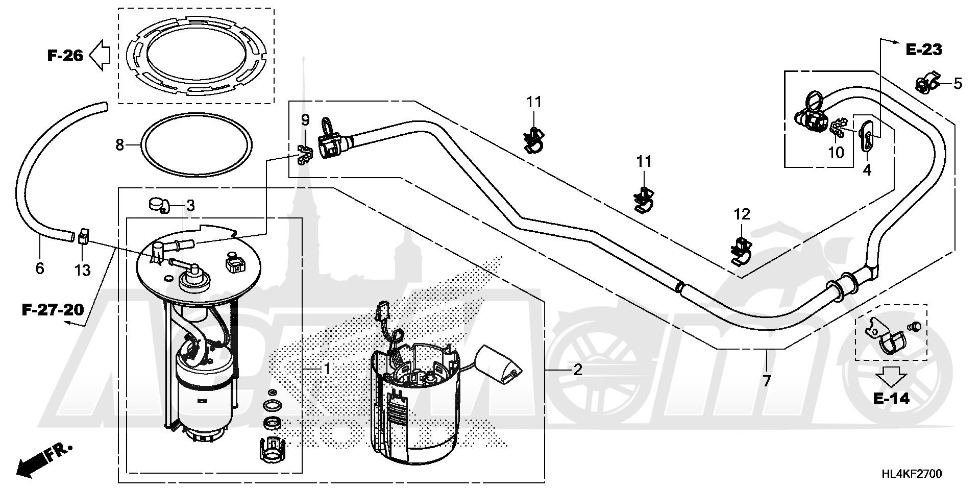 Запчасти для Квадроцикла Honda 2019 SXS1000M5L Раздел: FUEL PUMP | топливный насос