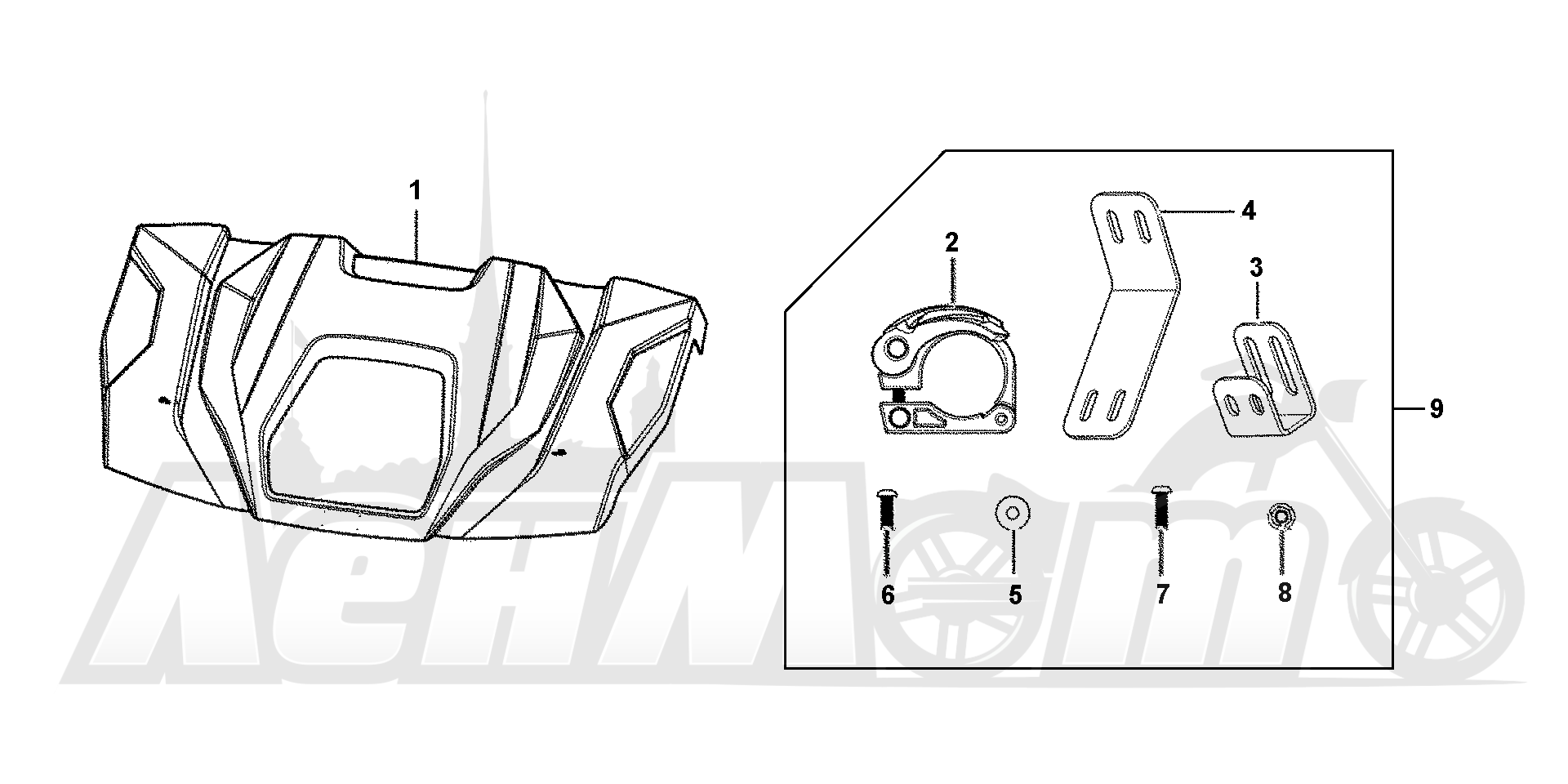Запчасти для Квадроцикла Honda 2019 SXS1000M5L Раздел: HARD ROOF (3P) | HARD крыша (3P)