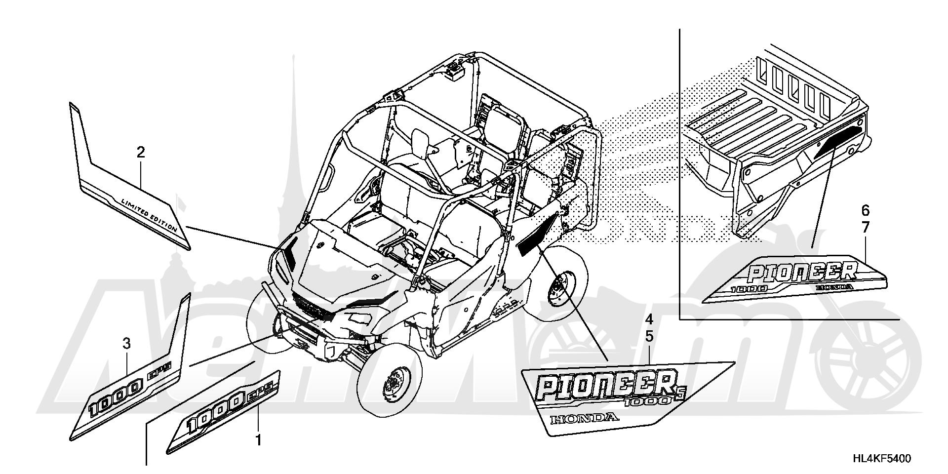 Запчасти для Квадроцикла Honda 2019 SXS1000M5L Раздел: MARK | знак