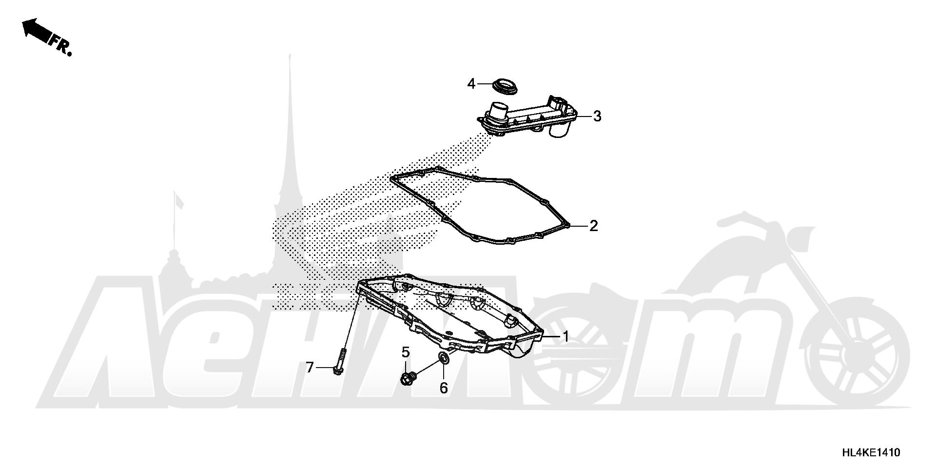 Запчасти для Квадроцикла Honda 2019 SXS1000M5L Раздел: OIL PAN   маслянный поддон