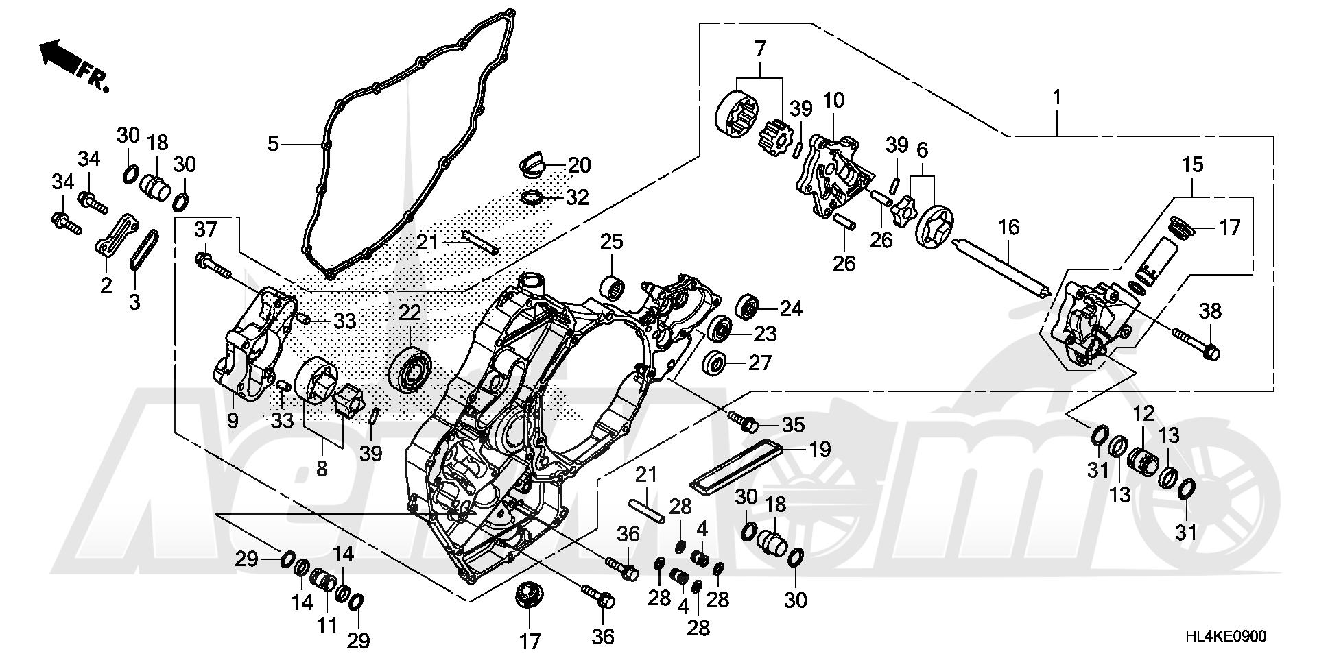 Запчасти для Квадроцикла Honda 2019 SXS1000M5L Раздел: OIL PUMP | маслянный насос