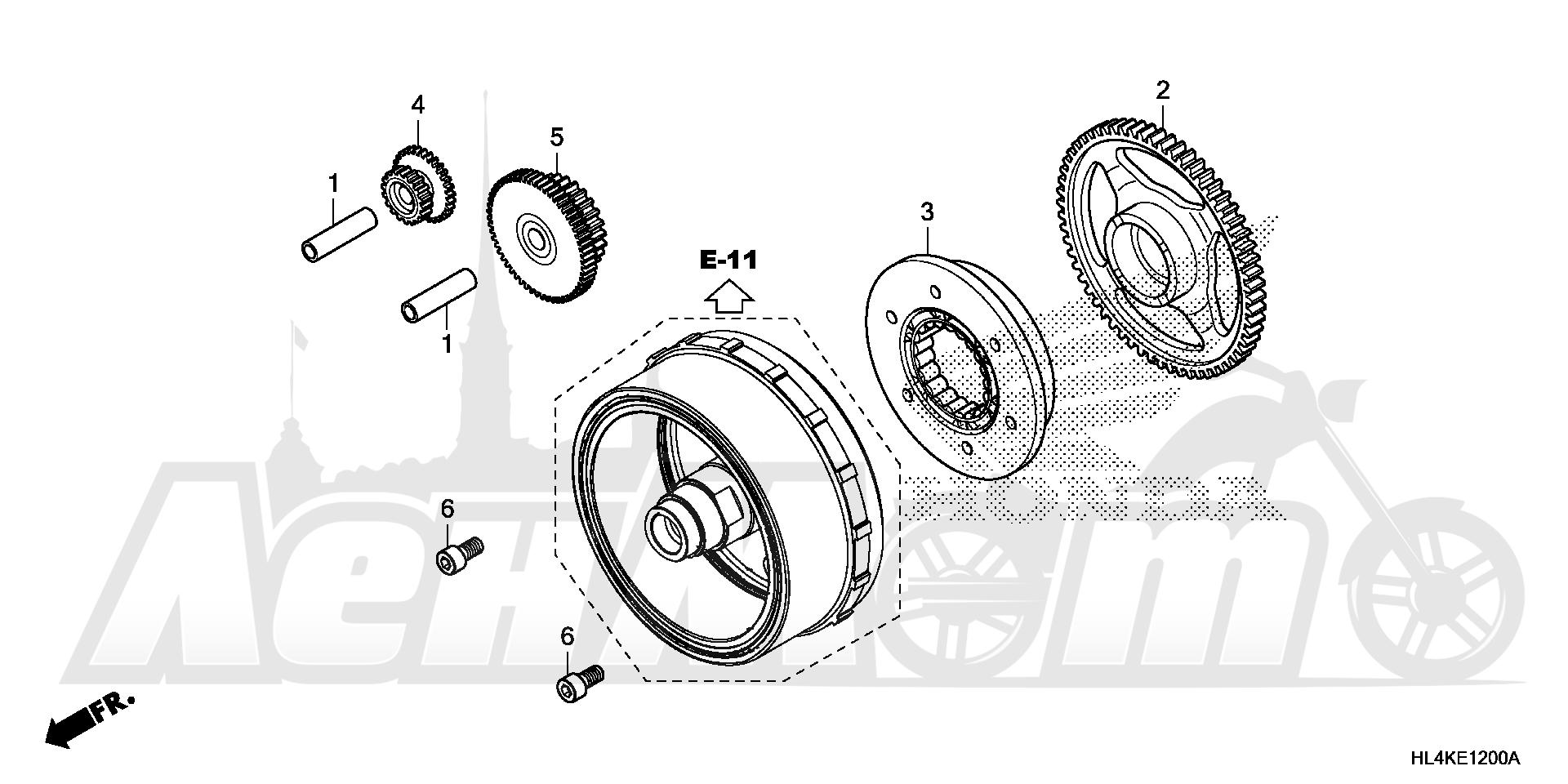 Запчасти для Квадроцикла Honda 2019 SXS1000M5L Раздел: STARTING CLUTCH | запуск сцепление