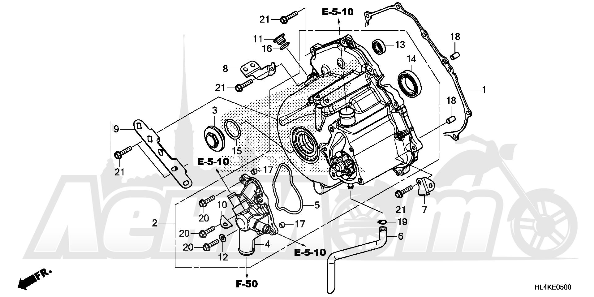 Запчасти для Квадроцикла Honda 2019 SXS1000M5P Раздел: ALTERNATOR COVER | генератор крышка
