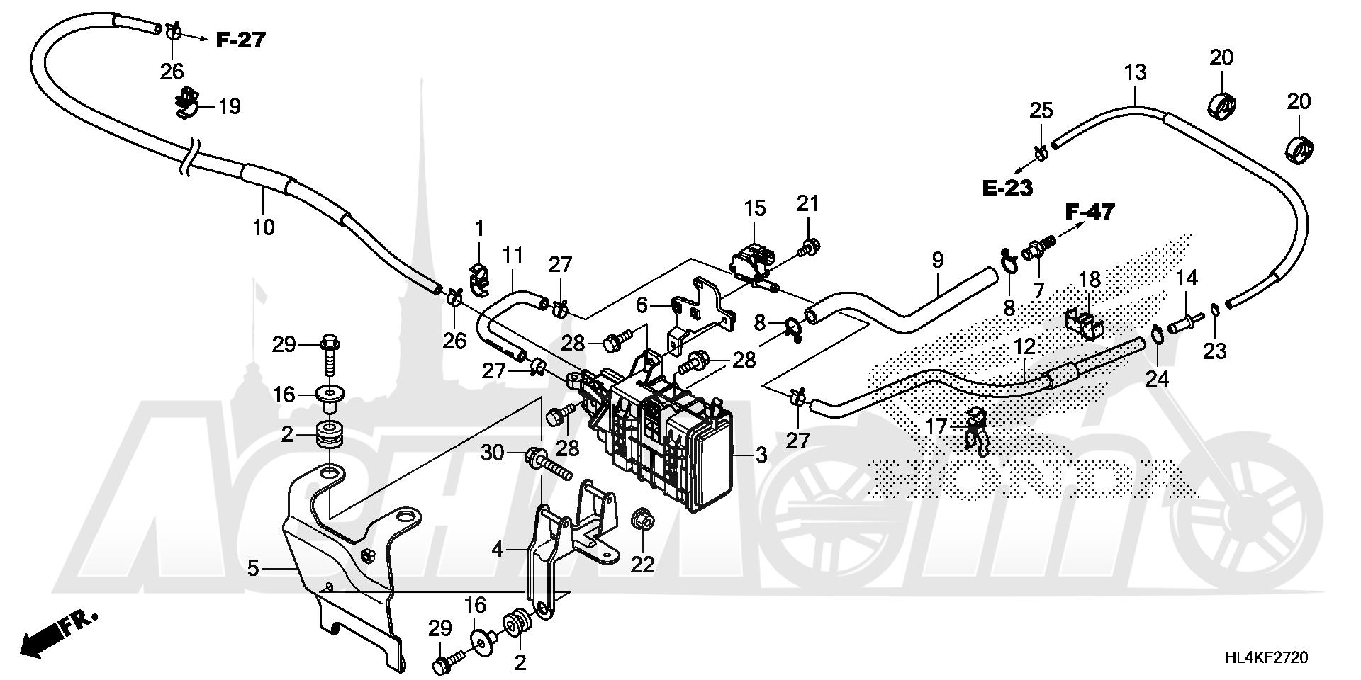 Запчасти для Квадроцикла Honda 2019 SXS1000M5P Раздел: EVAP CANISTER | EVAP канистра