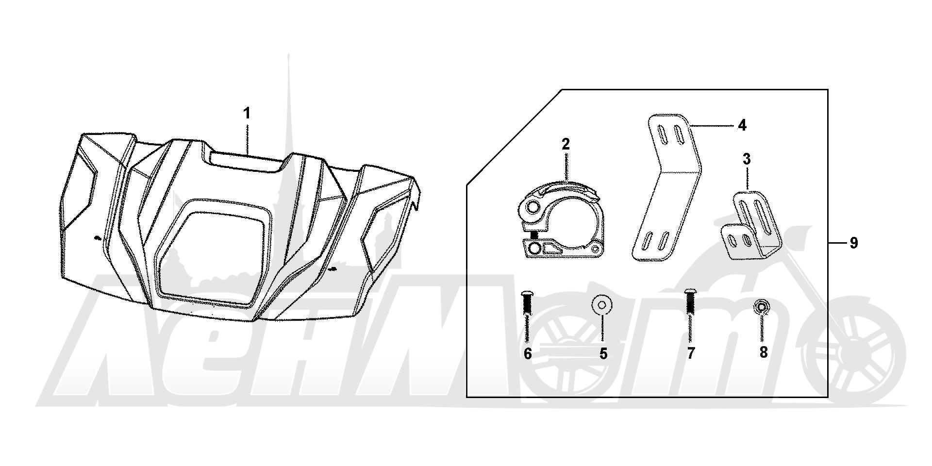 Запчасти для Квадроцикла Honda 2019 SXS1000M5P Раздел: HARD ROOF (3P) | HARD крыша (3P)