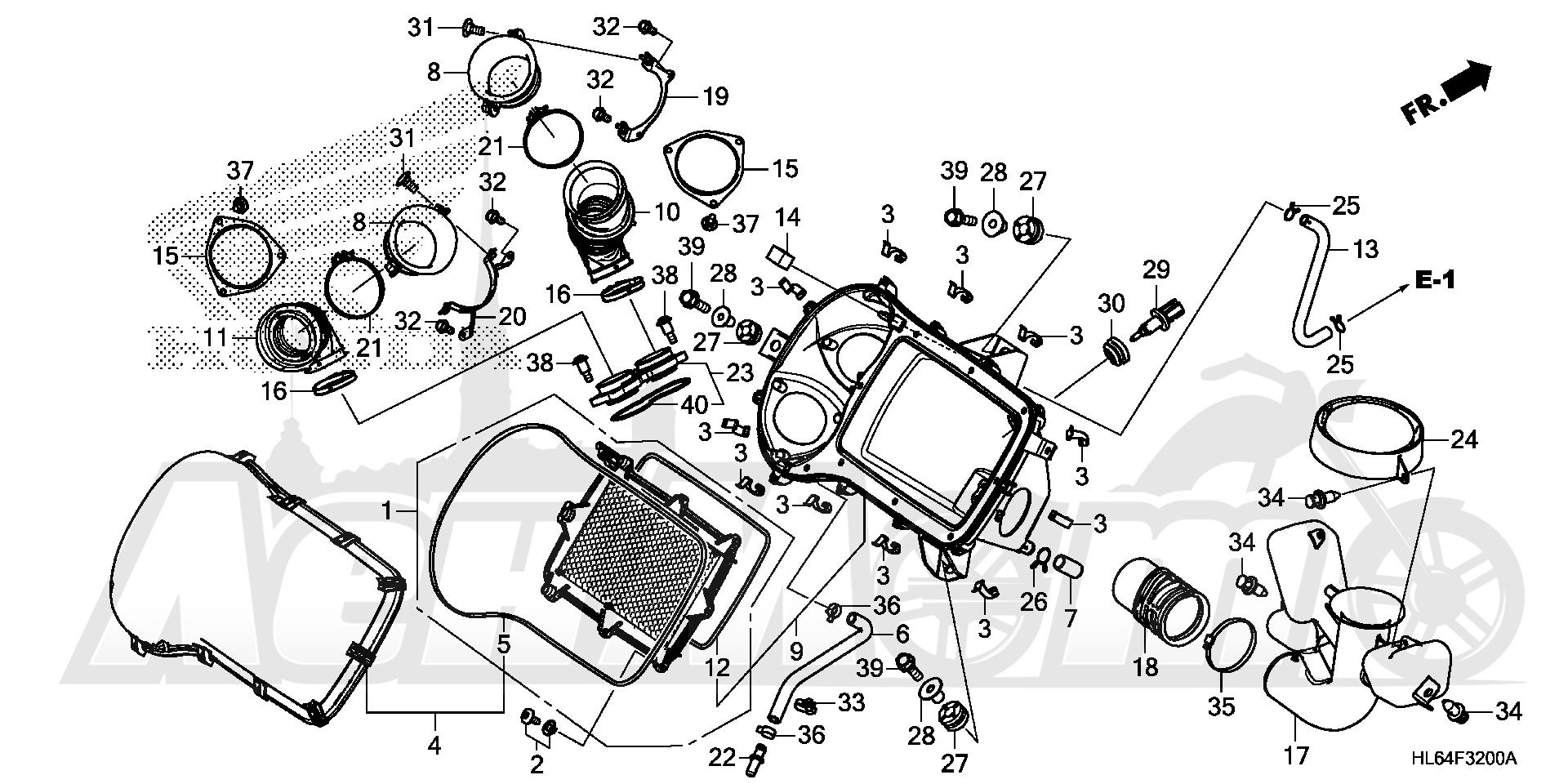 Запчасти для Квадроцикла Honda 2019 SXS1000S2R Раздел: AIR CLEANER | очиститель воздуха