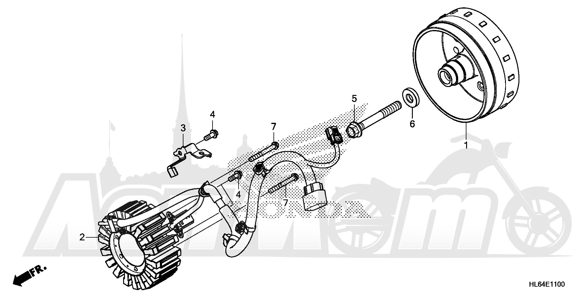 Запчасти для Квадроцикла Honda 2019 SXS1000S2R Раздел: ALTERNATOR | генератор