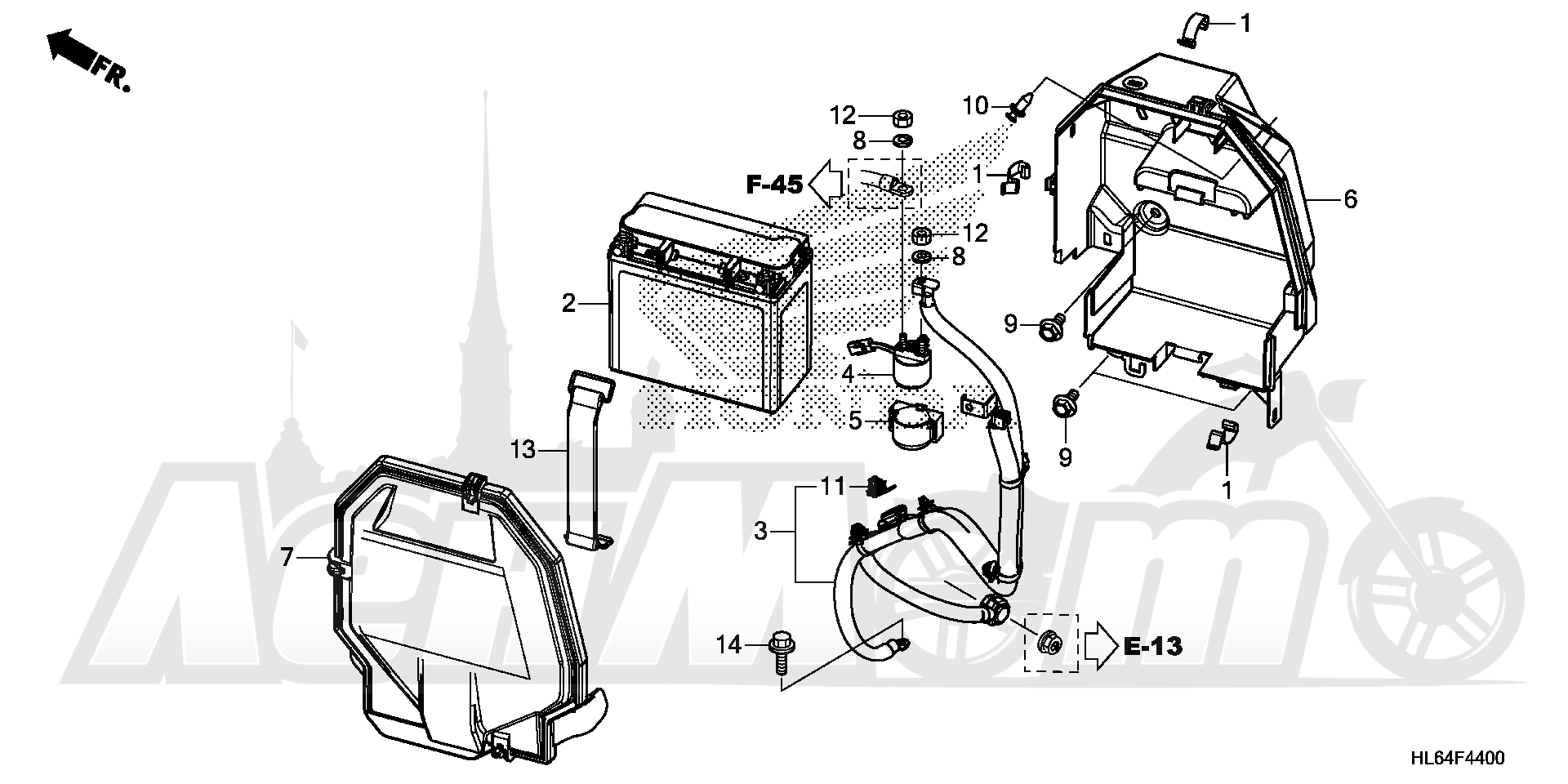 Запчасти для Квадроцикла Honda 2019 SXS1000S2R Раздел: BATTERY   аккумулятор