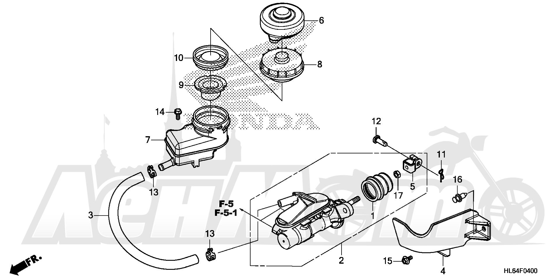 Запчасти для Квадроцикла Honda 2019 SXS1000S2R Раздел: BRAKE MASTER CYLINDER | тормоза главный цилиндр
