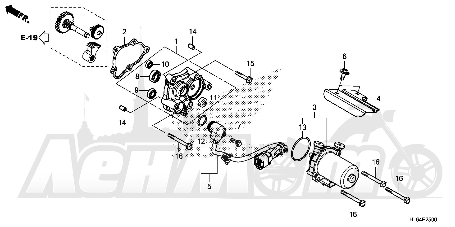 Запчасти для Квадроцикла Honda 2019 SXS1000S2R Раздел: CONTROL MOTOR | управление мотор