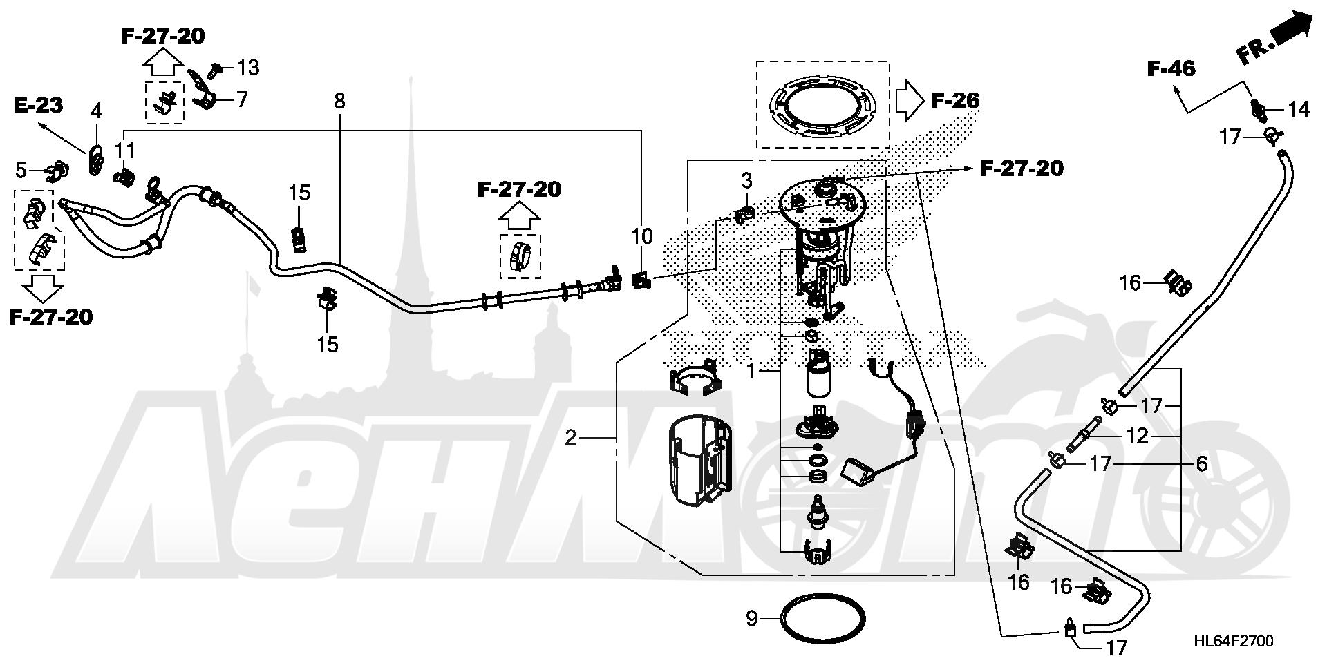 Запчасти для Квадроцикла Honda 2019 SXS1000S2R Раздел: FUEL PUMP | топливный насос