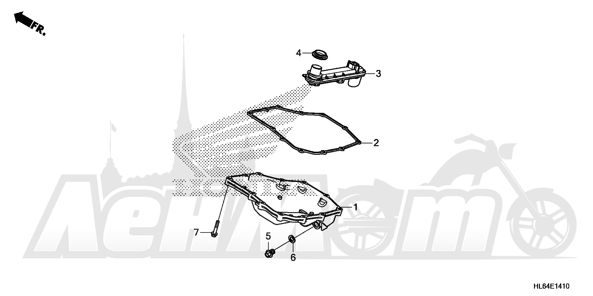 Запчасти для Квадроцикла Honda 2019 SXS1000S2R Раздел: OIL PAN | маслянный поддон
