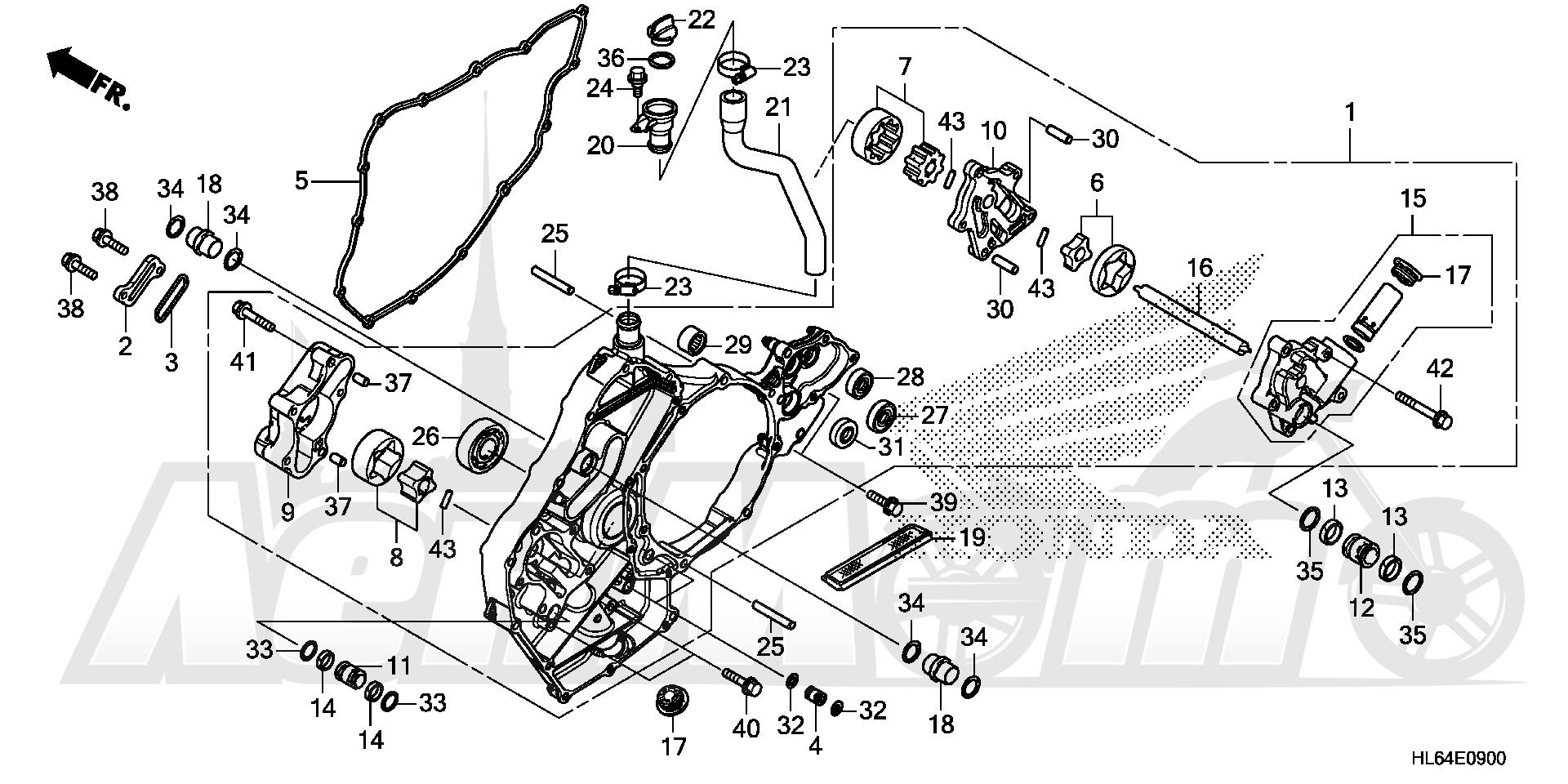 Запчасти для Квадроцикла Honda 2019 SXS1000S2R Раздел: OIL PUMP | маслянный насос
