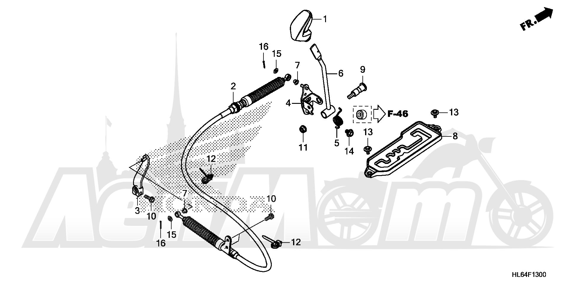 Запчасти для Квадроцикла Honda 2019 SXS1000S2R Раздел: SELECT LEVER | SELECT рычаг