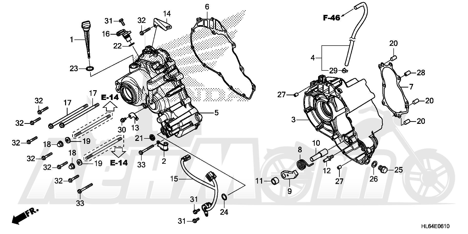 Запчасти для Квадроцикла Honda 2019 SXS1000S2R Раздел: SUB-TRANSMISSION CASE | SUB трансмиссия корпус