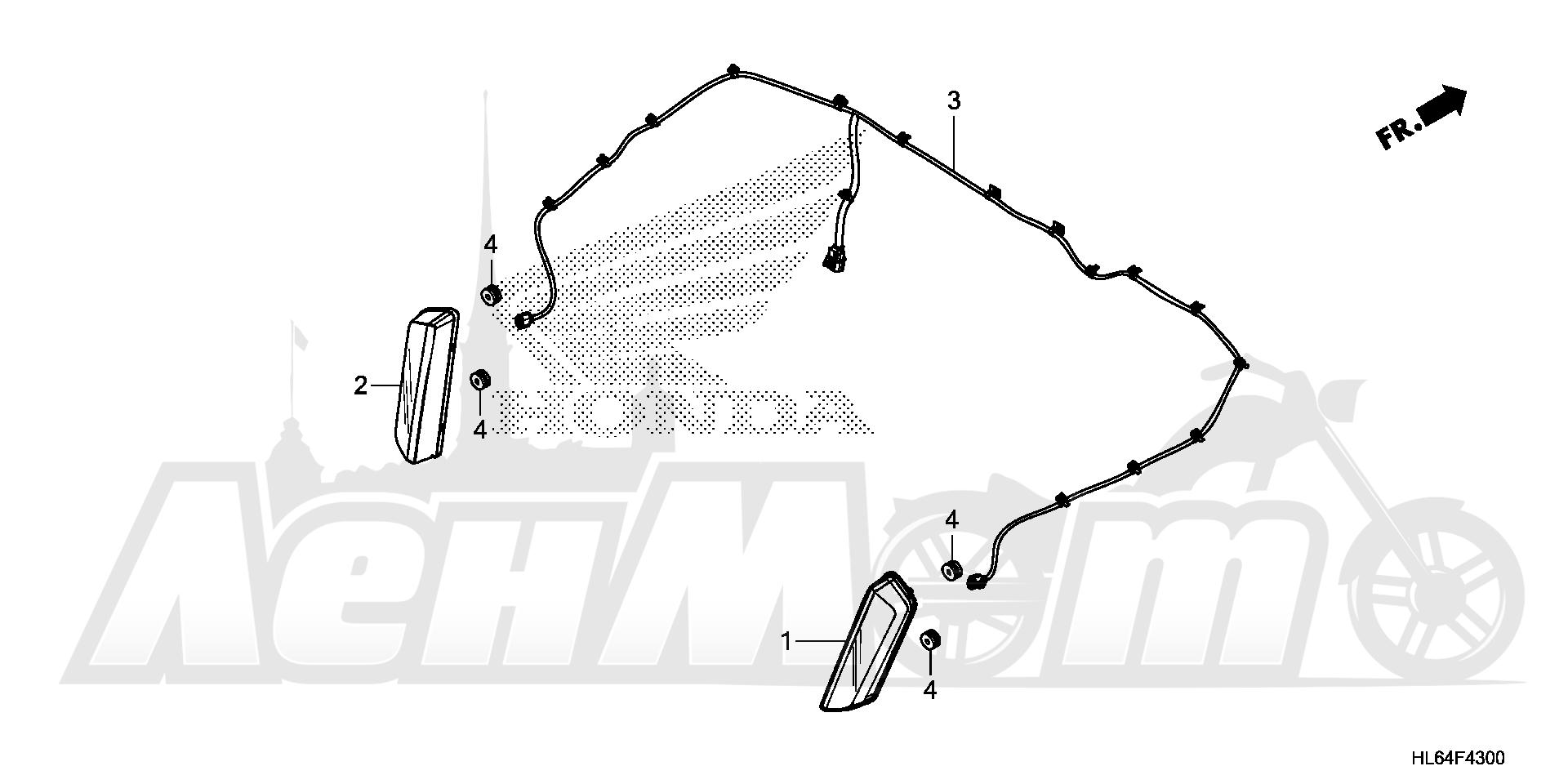 Запчасти для Квадроцикла Honda 2019 SXS1000S2R Раздел: TAILLIGHT | задний фонарь
