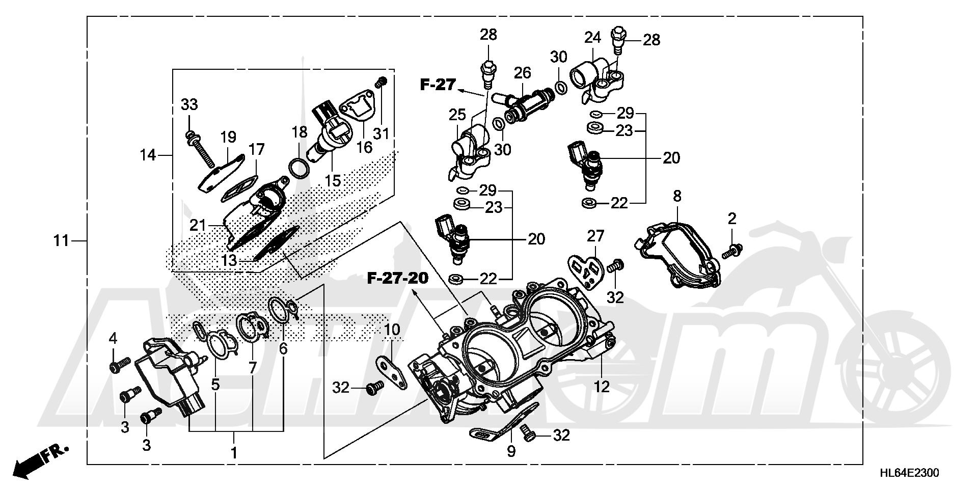 Запчасти для Квадроцикла Honda 2019 SXS1000S2R Раздел: THROTTLE BODY | дроссельный узел