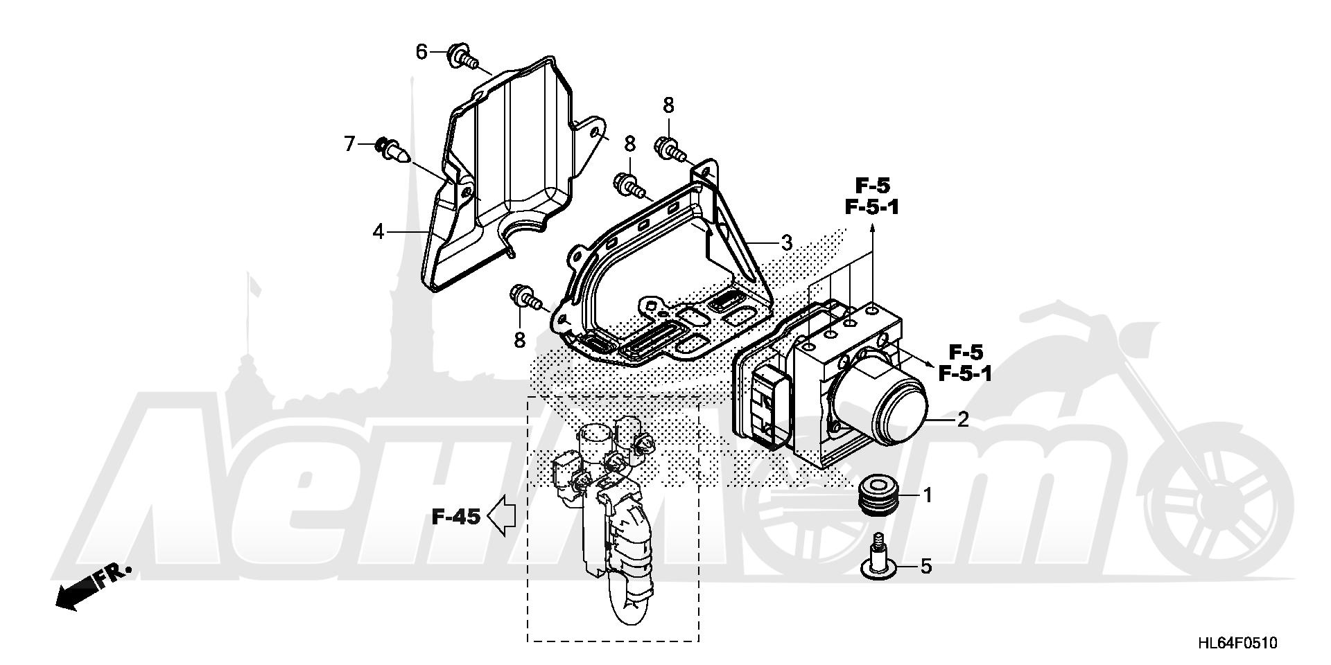 Запчасти для Квадроцикла Honda 2019 SXS1000S2R Раздел: VSA MODULATOR | VSA MODULATOR