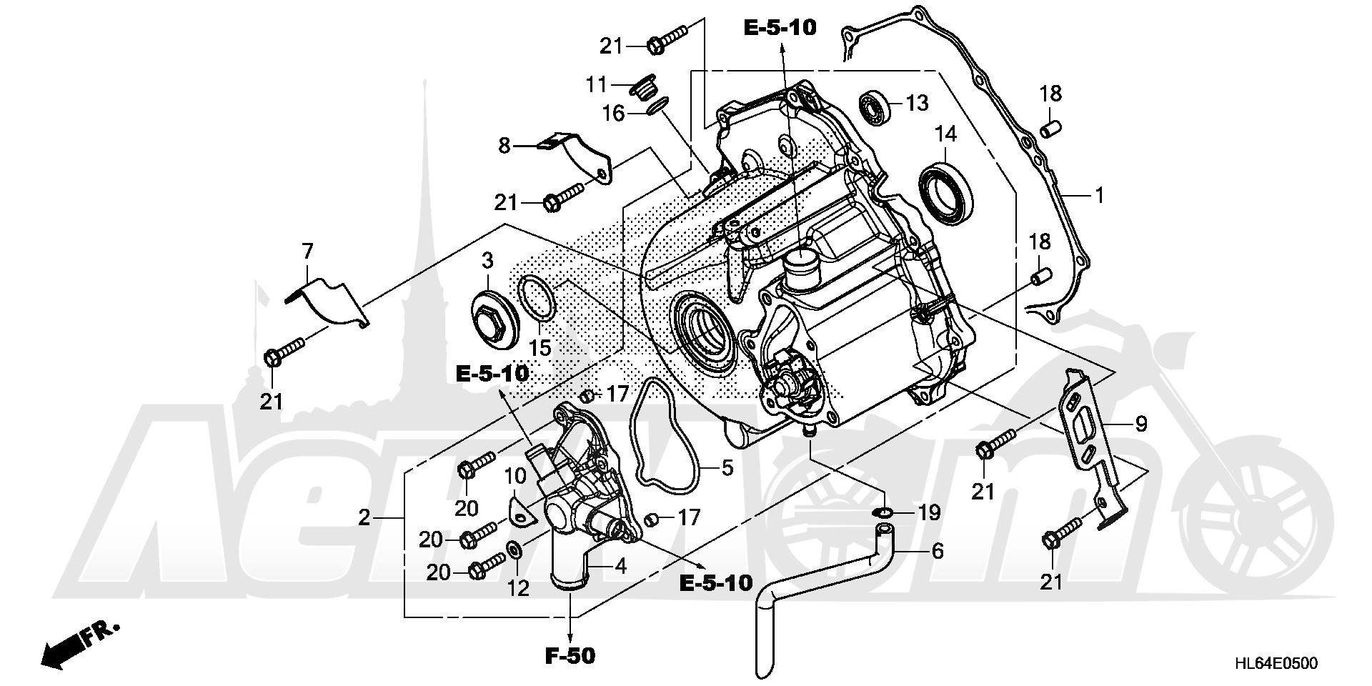 Запчасти для Квадроцикла Honda 2019 SXS1000S2X Раздел: ALTERNATOR COVER   генератор крышка