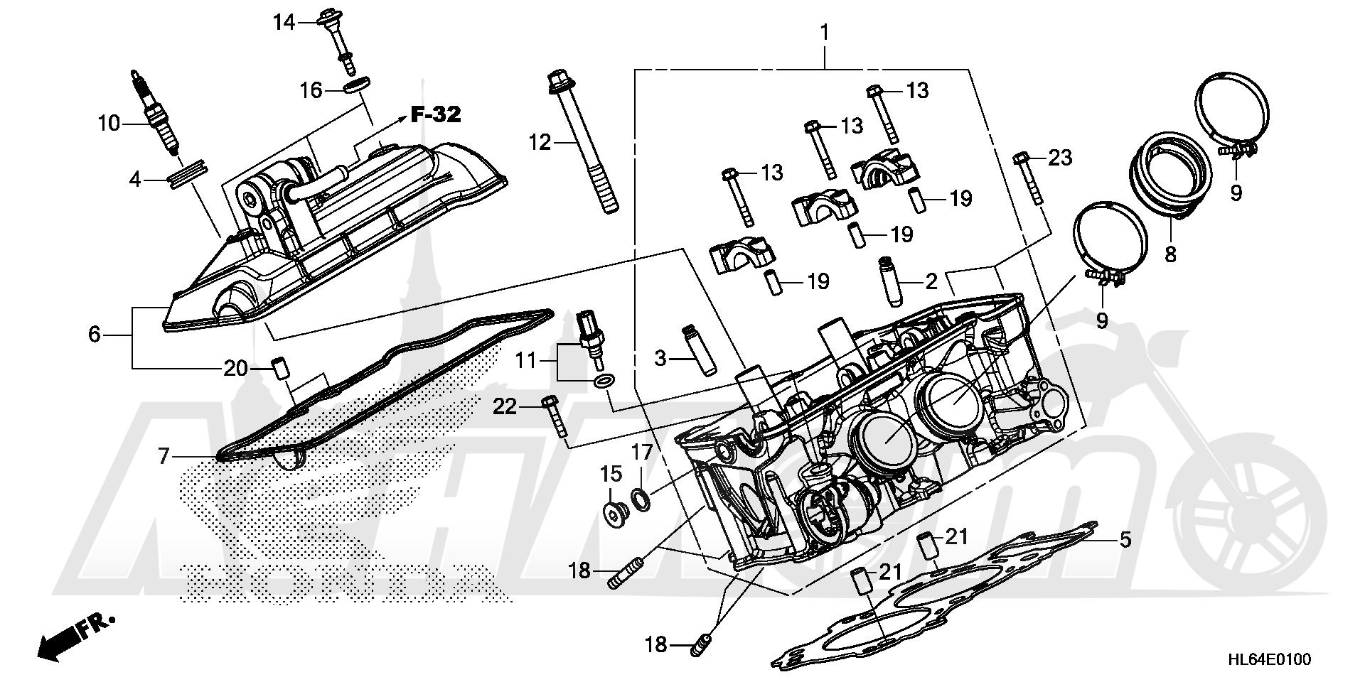 Запчасти для Квадроцикла Honda 2019 SXS1000S2X Раздел: CYLINDER HEAD | головка цилиндра
