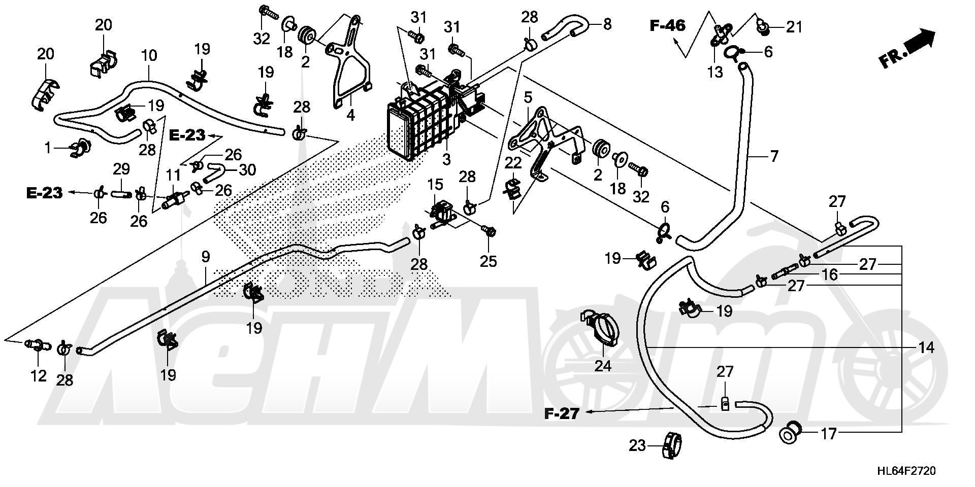 Запчасти для Квадроцикла Honda 2019 SXS1000S2X Раздел: EVAP CANISTER   EVAP канистра