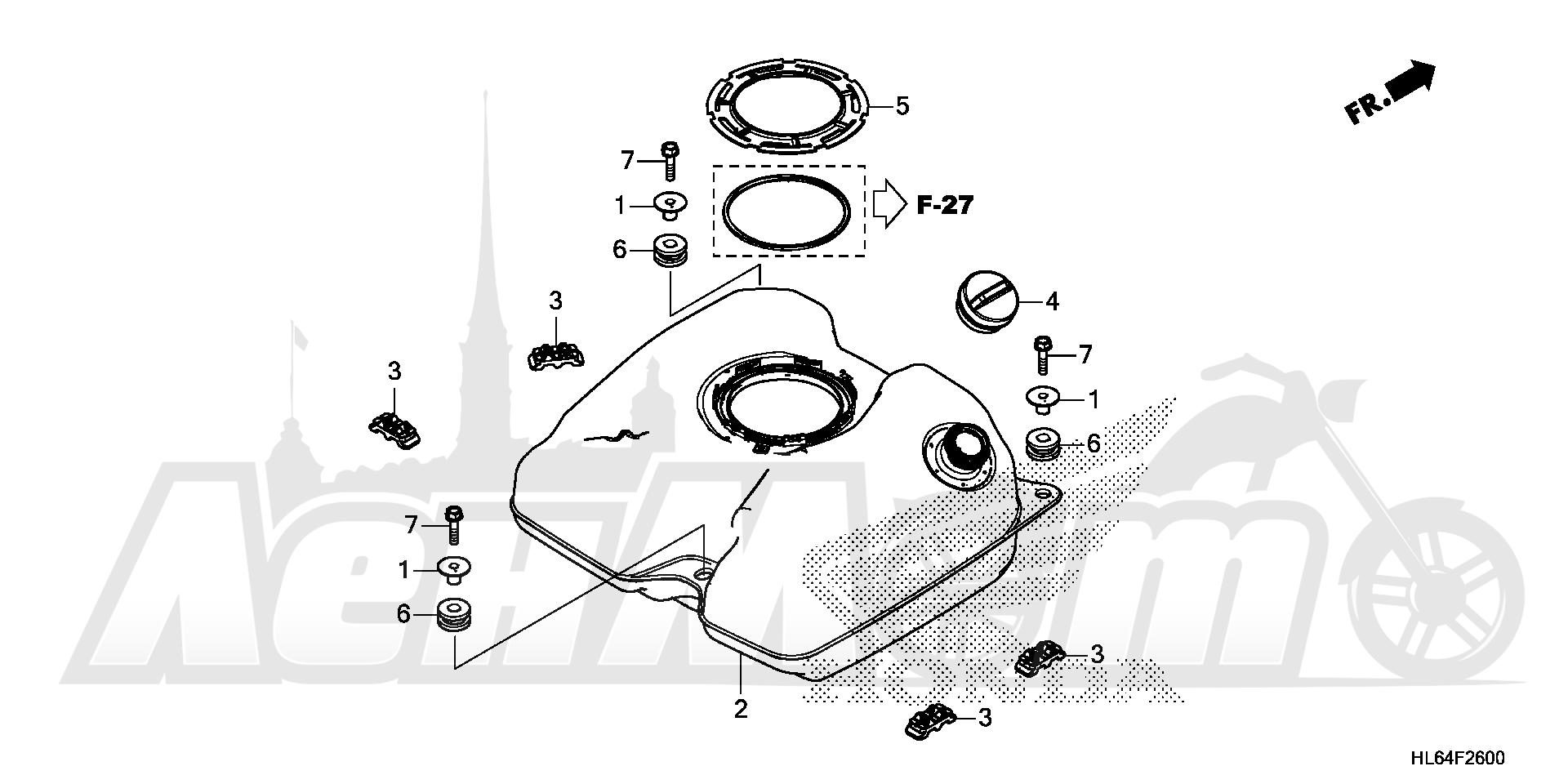 Запчасти для Квадроцикла Honda 2019 SXS1000S2X Раздел: FUEL TANK   топливный бак